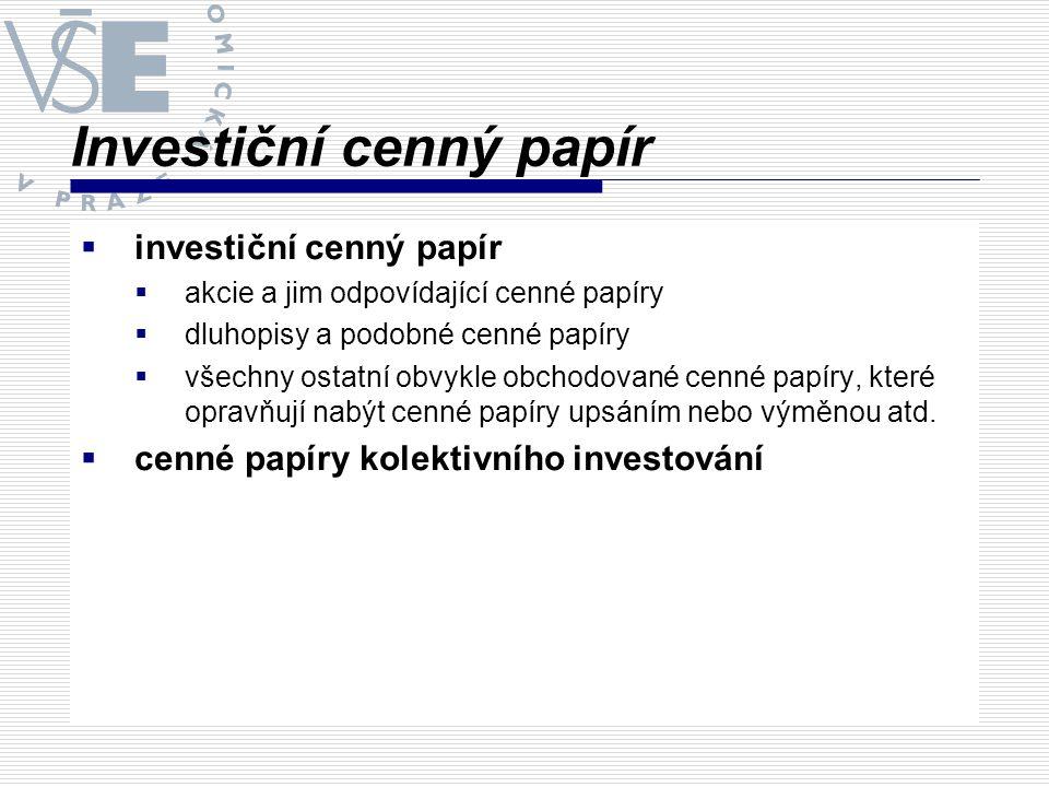 Investiční cenný papír