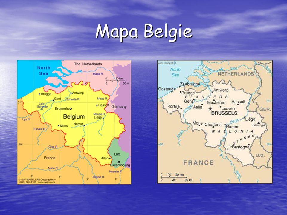 Mapa Belgie