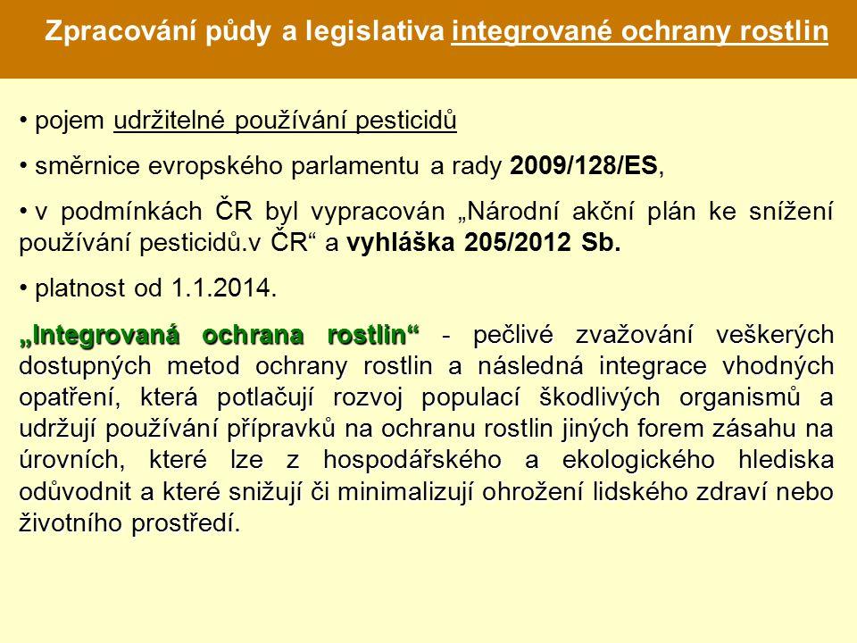 Zpracování půdy a legislativa integrované ochrany rostlin