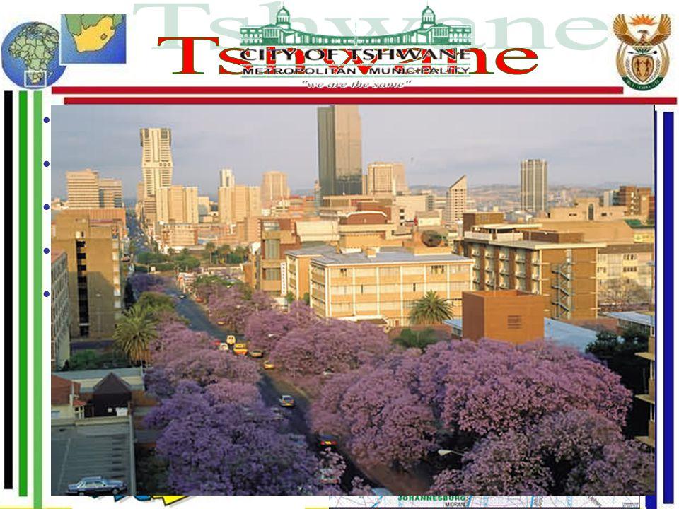 Tshwane Oficiální hlavní město Metropolitní celek 13 měst