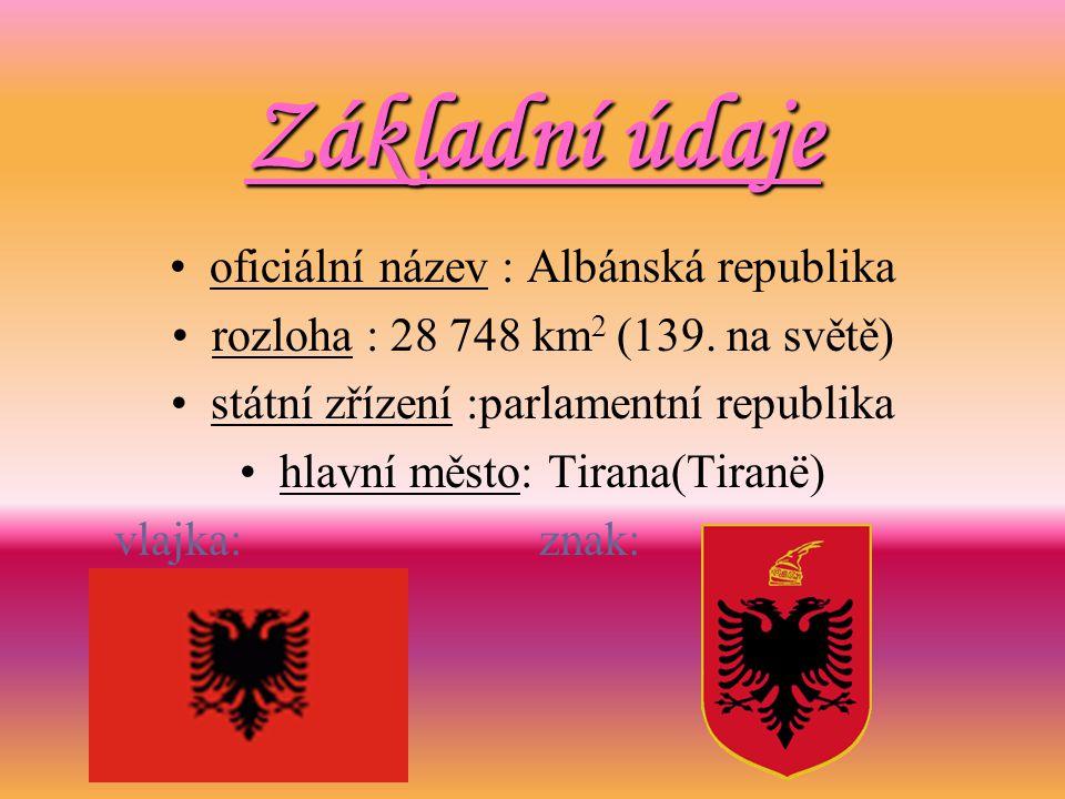 Základní údaje oficiální název : Albánská republika