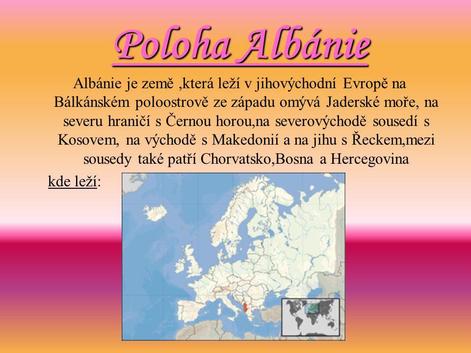 Poloha Albánie