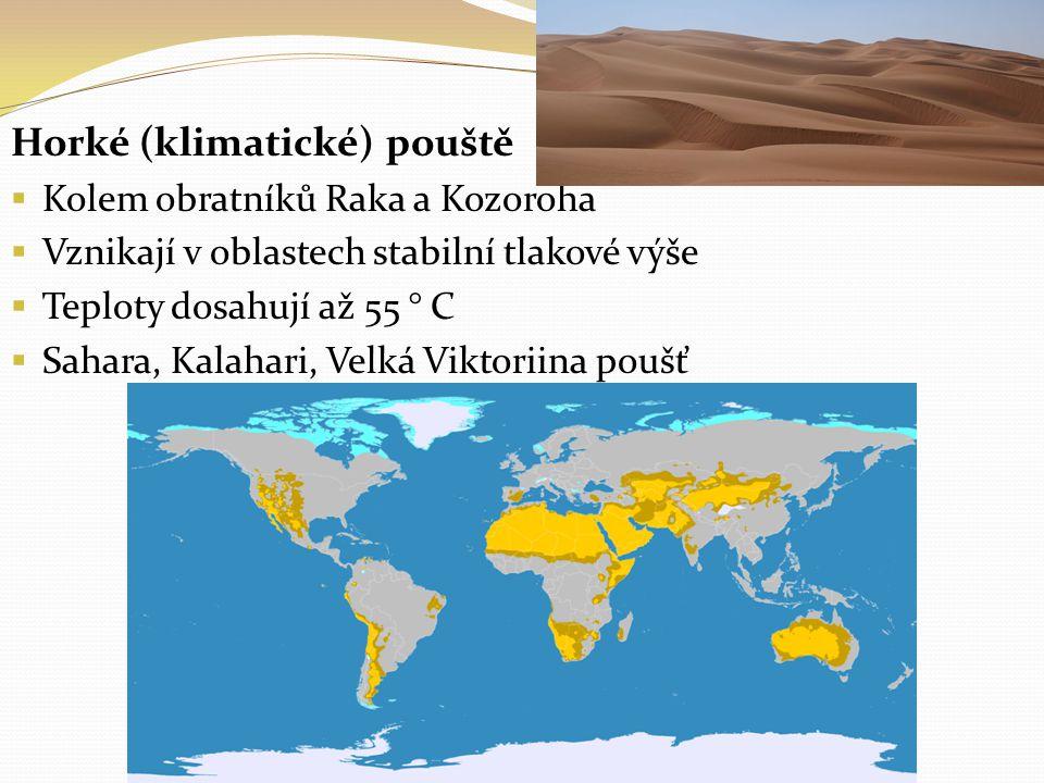 Horké (klimatické) pouště