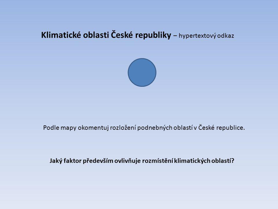 Klimatické oblasti České republiky – hypertextový odkaz