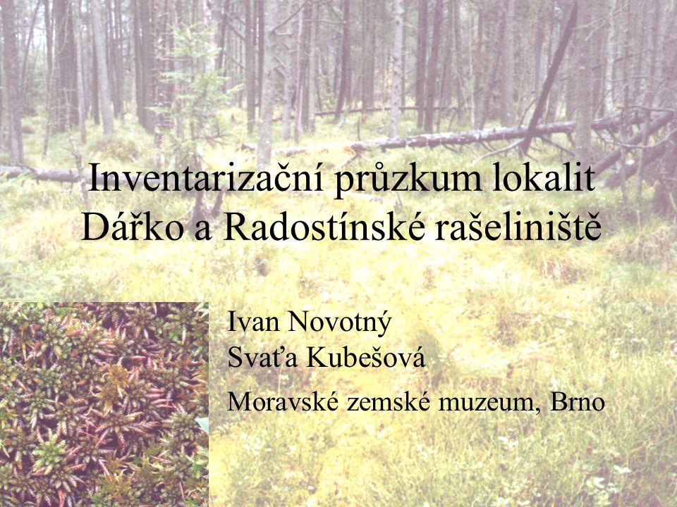 Inventarizační průzkum lokalit Dářko a Radostínské rašeliniště