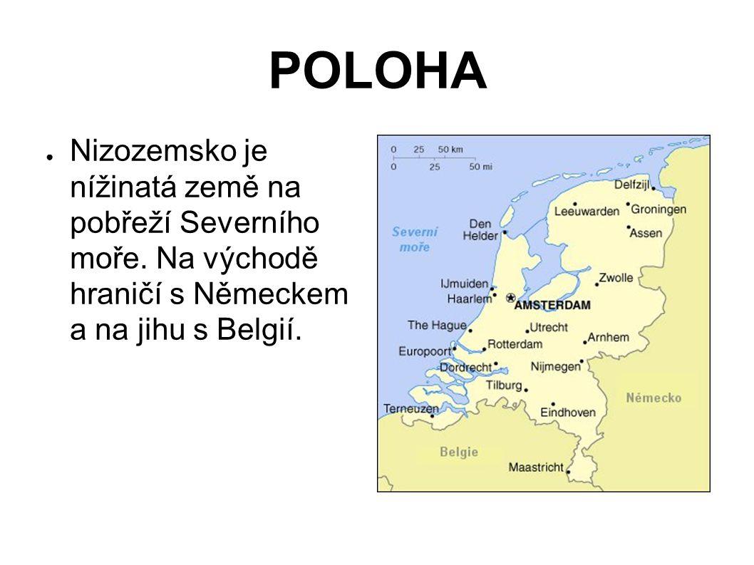 POLOHA Nizozemsko je nížinatá země na pobřeží Severního moře.