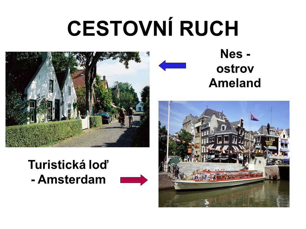 Turistická loď - Amsterdam