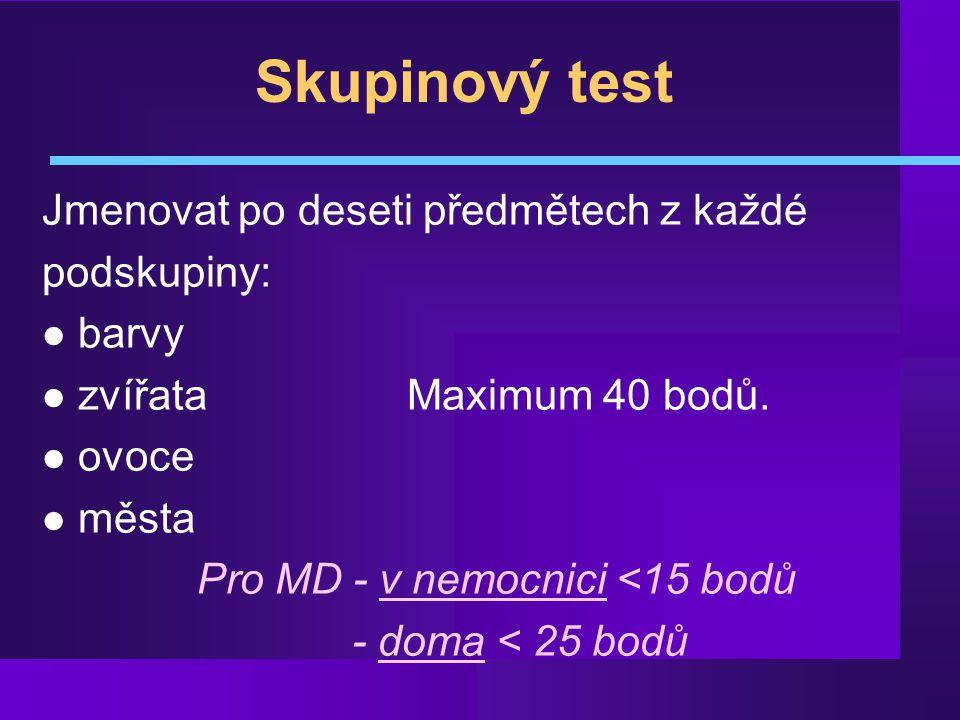 Pro MD - v nemocnici <15 bodů