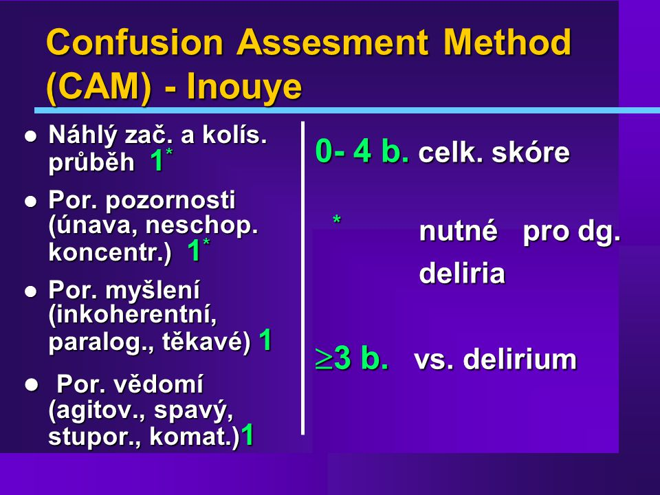 Confusion Assesment Method (CAM) - Inouye
