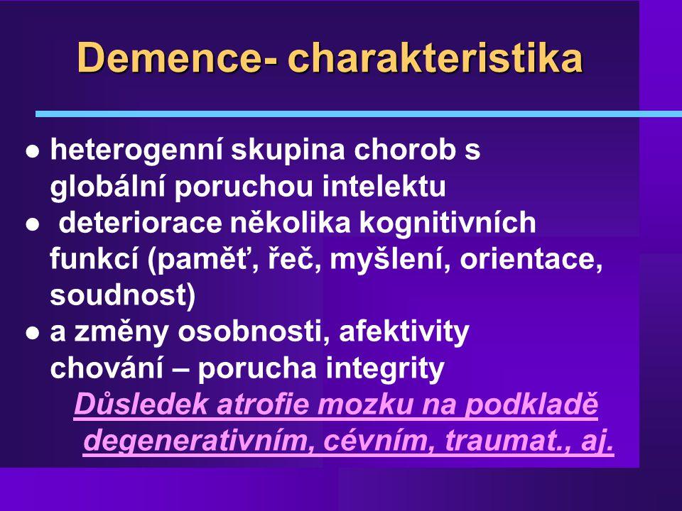 Demence- charakteristika