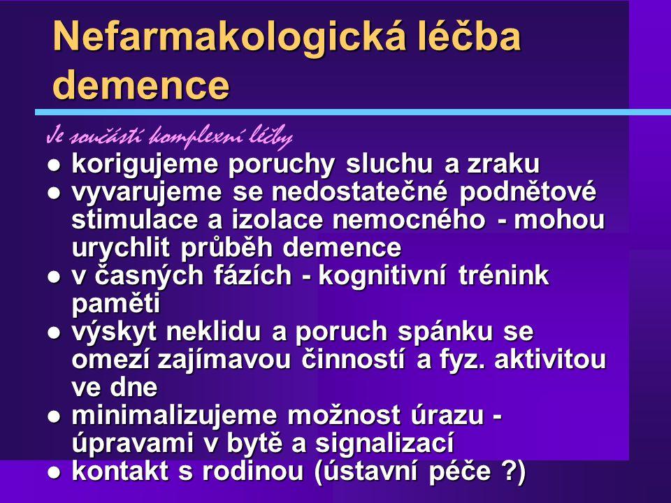Nefarmakologická léčba demence