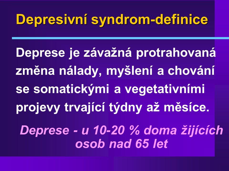 Depresivní syndrom-definice