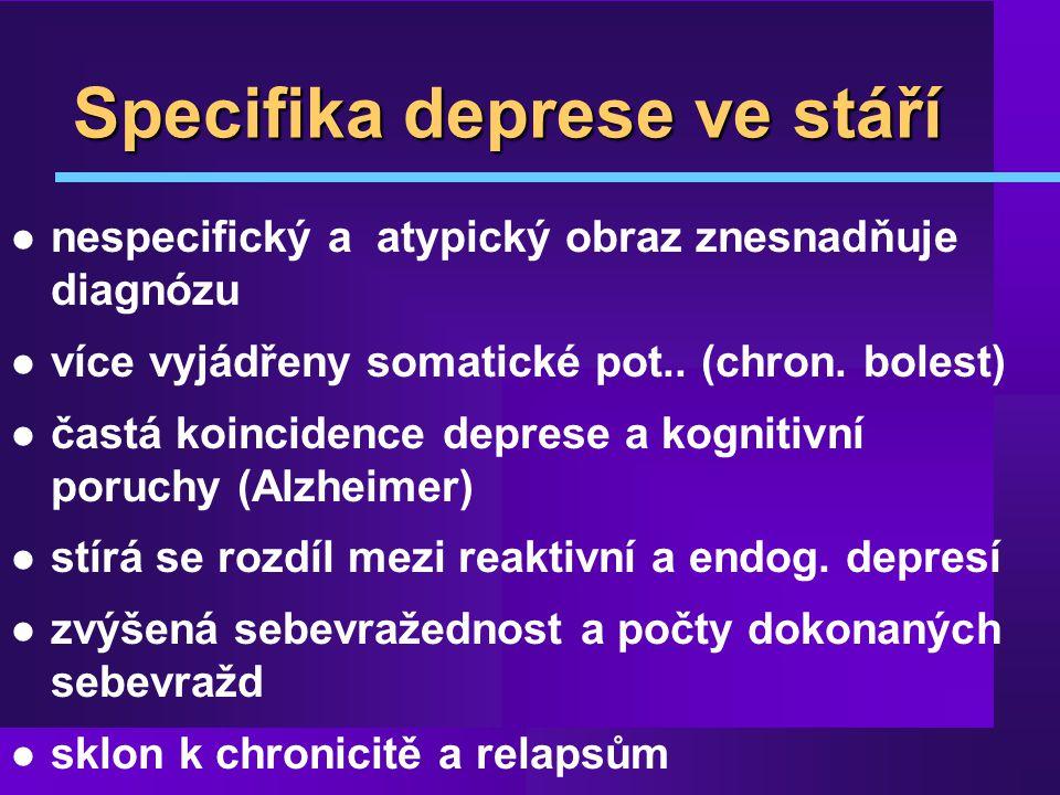 Specifika deprese ve stáří