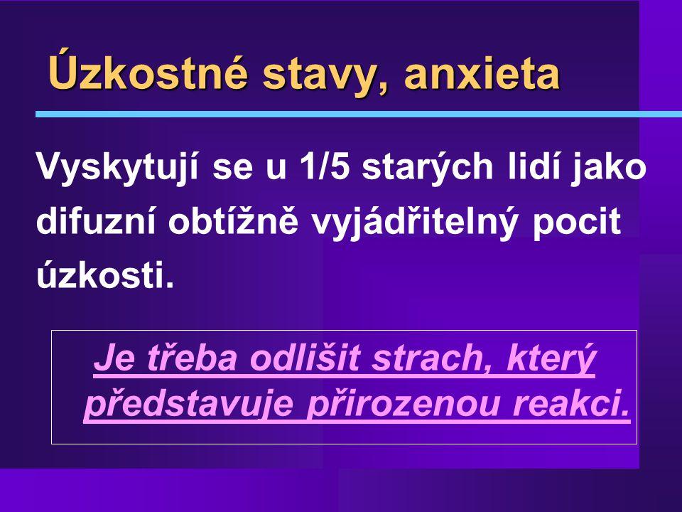 Úzkostné stavy, anxieta