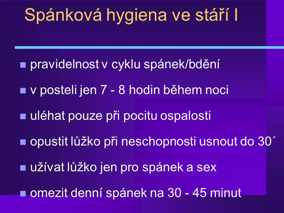 Spánková hygiena ve stáří I
