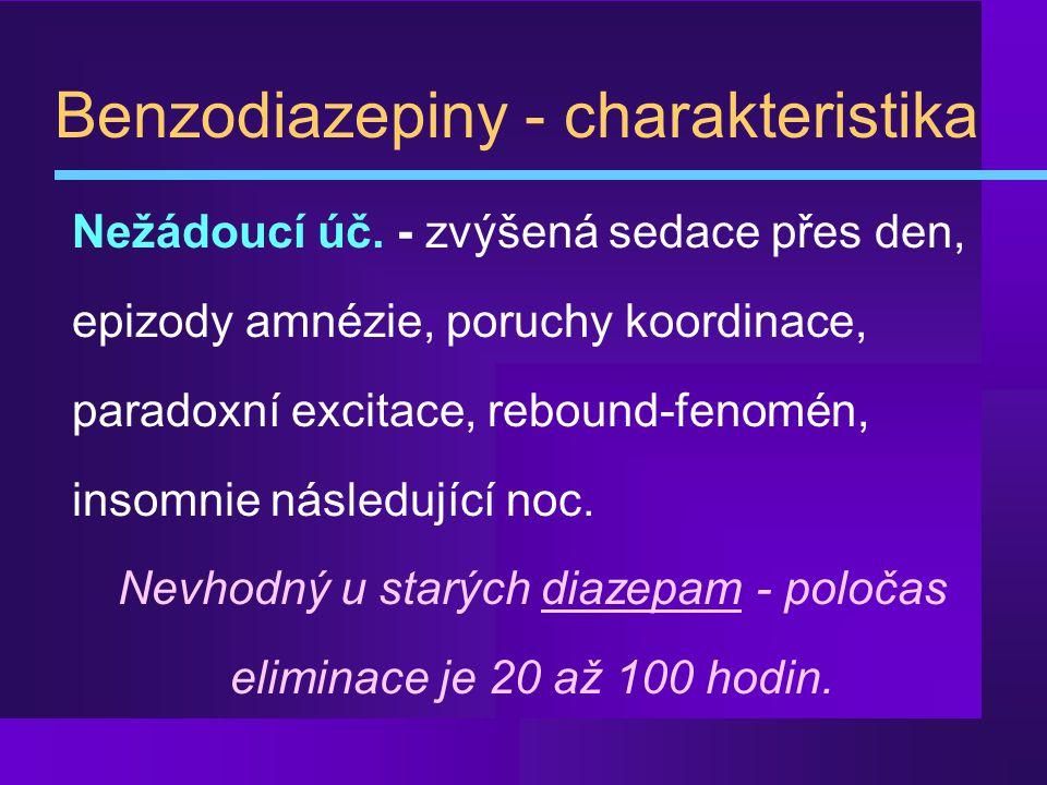 Benzodiazepiny - charakteristika