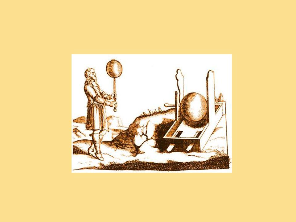 Otto von Guericke sestrojil v roce 1663 stroj s rotující sírovou koulí a s jeho pomocí vytvářel elektrické jiskry, zjistil například, že 2 opačně nabité koule se odpuzují, dříve byly známy pouze přitažlivé účinky elektrických sil…