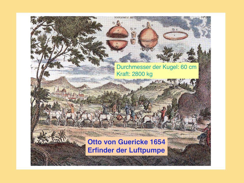 Nejznámější experiment předvedl Otto von Guericke v roce 1650 v Magdeburgu. Guericke spojil dvě kovové polokoule, mezi které vložil kožené těsnění. Svou pumpou pak vyčerpal přes ventil vzduch z vnitřku koule. Tlak okolního vzduchu pevně přitiskl polokoule k sobě.