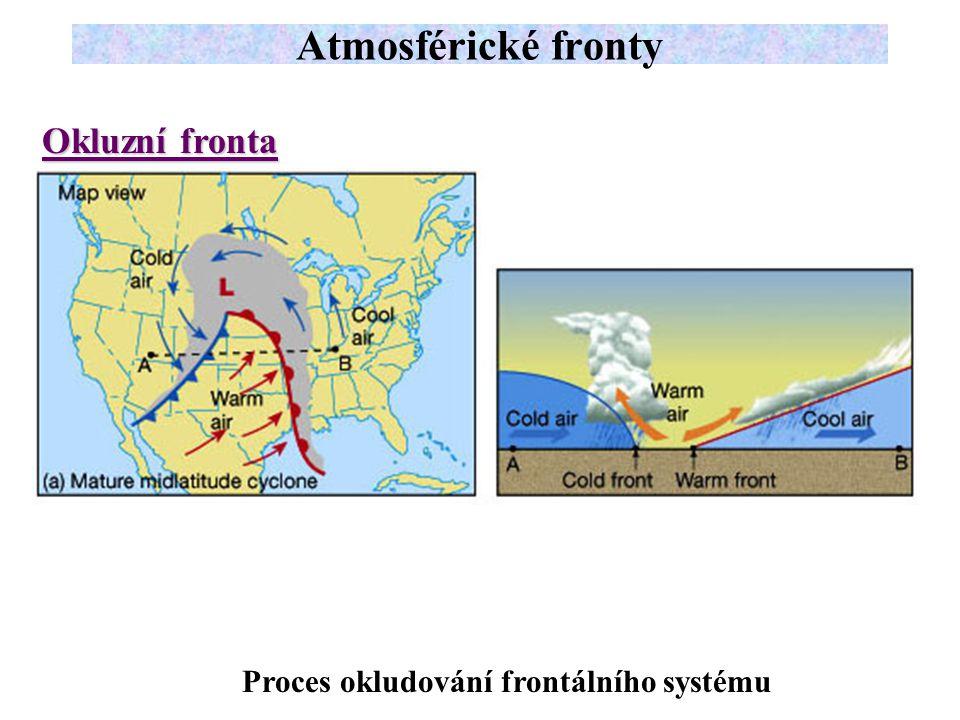 Atmosférické fronty Okluzní fronta