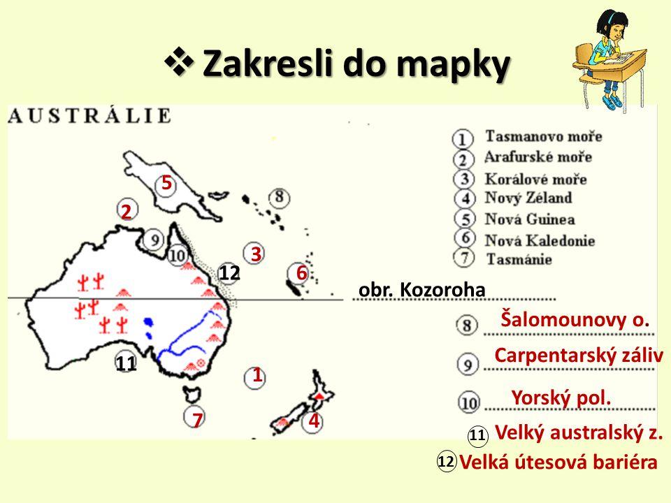 Zakresli do mapky 5 2 3 12 6 obr. Kozoroha Šalomounovy o.