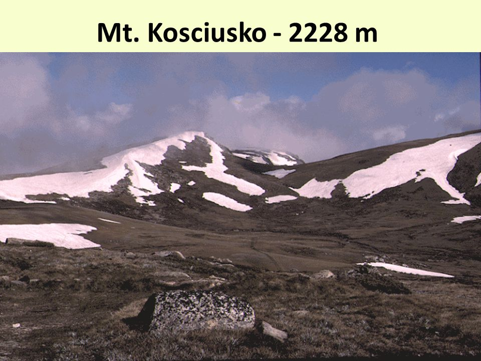 Mt. Kosciusko - 2228 m