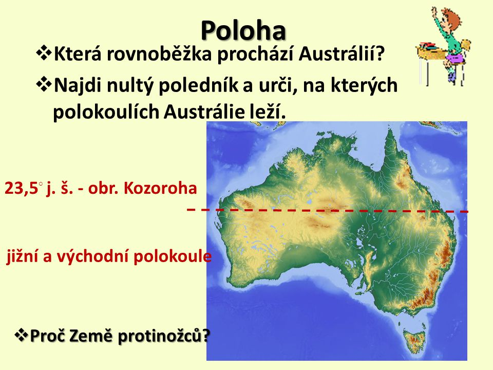 Poloha Která rovnoběžka prochází Austrálií