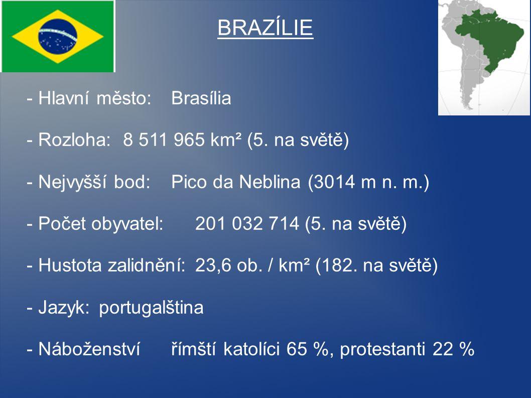 BRAZÍLIE - Hlavní město: Brasília