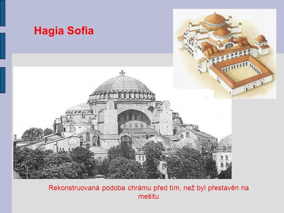 Rekonstruovaná podoba chrámu před tím, než byl přestavěn na mešitu