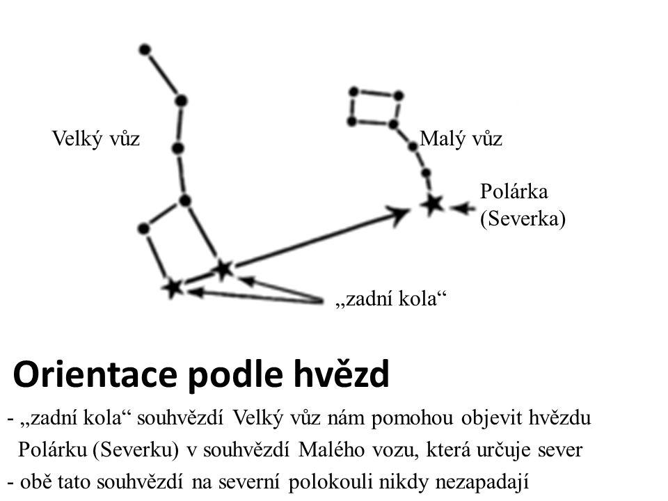 """Velký vůz Malý vůz Polárka (Severka) """"zadní kola"""