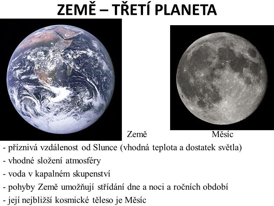 ZEMĚ – TŘETÍ PLANETA Země Měsíc