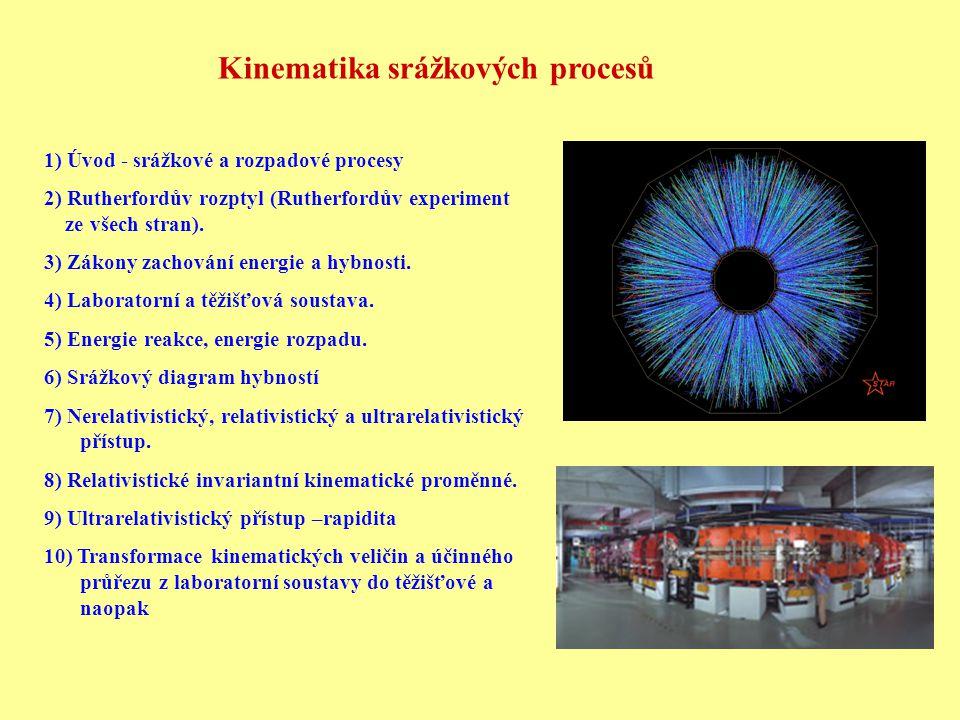 Kinematika srážkových procesů