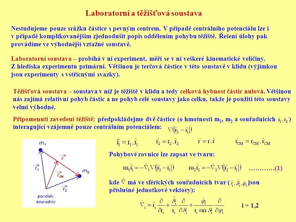 Laboratorní a těžišťová soustava