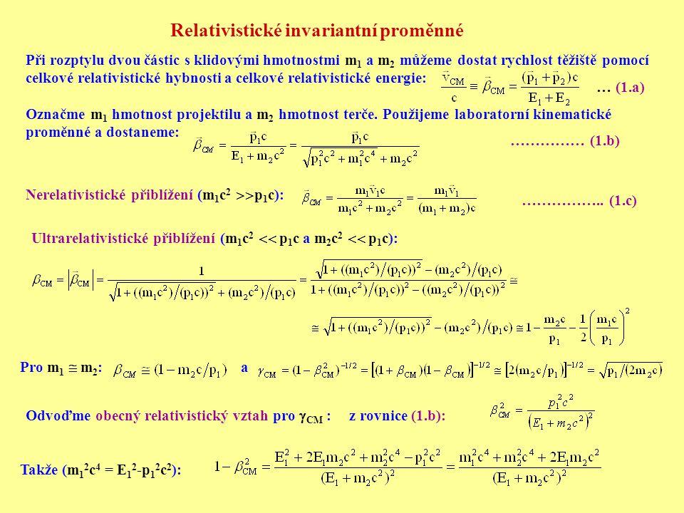 Relativistické invariantní proměnné