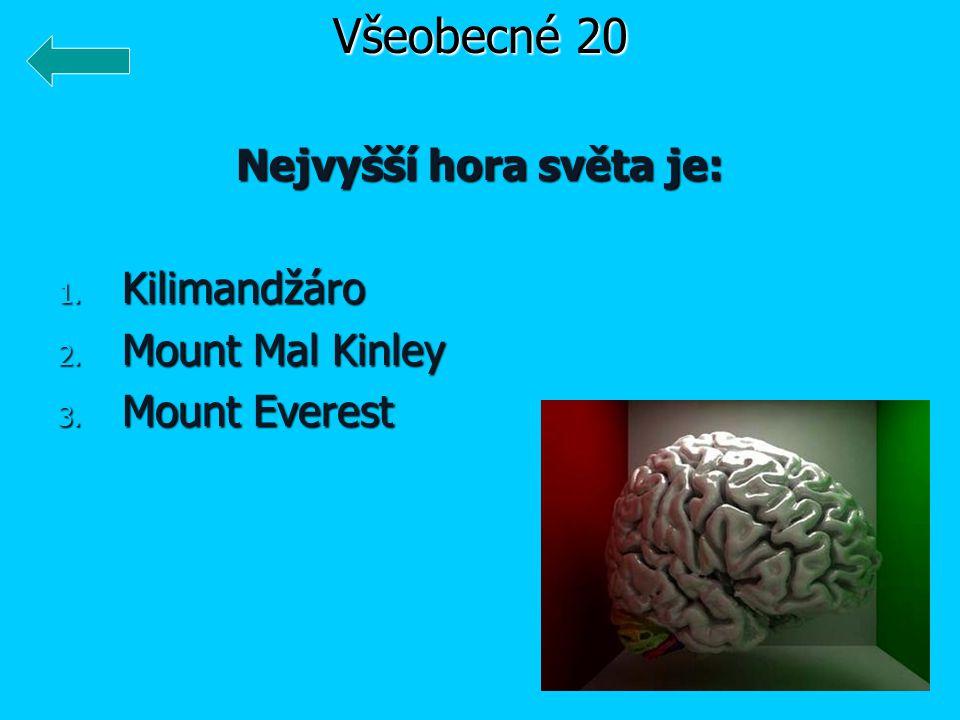 Nejvyšší hora světa je: