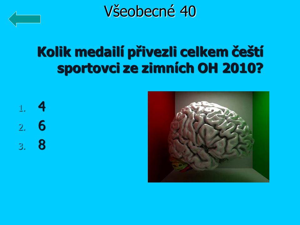 Kolik medailí přivezli celkem čeští sportovci ze zimních OH 2010