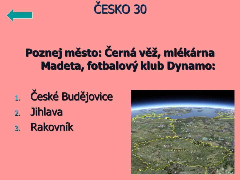 Poznej město: Černá věž, mlékárna Madeta, fotbalový klub Dynamo: