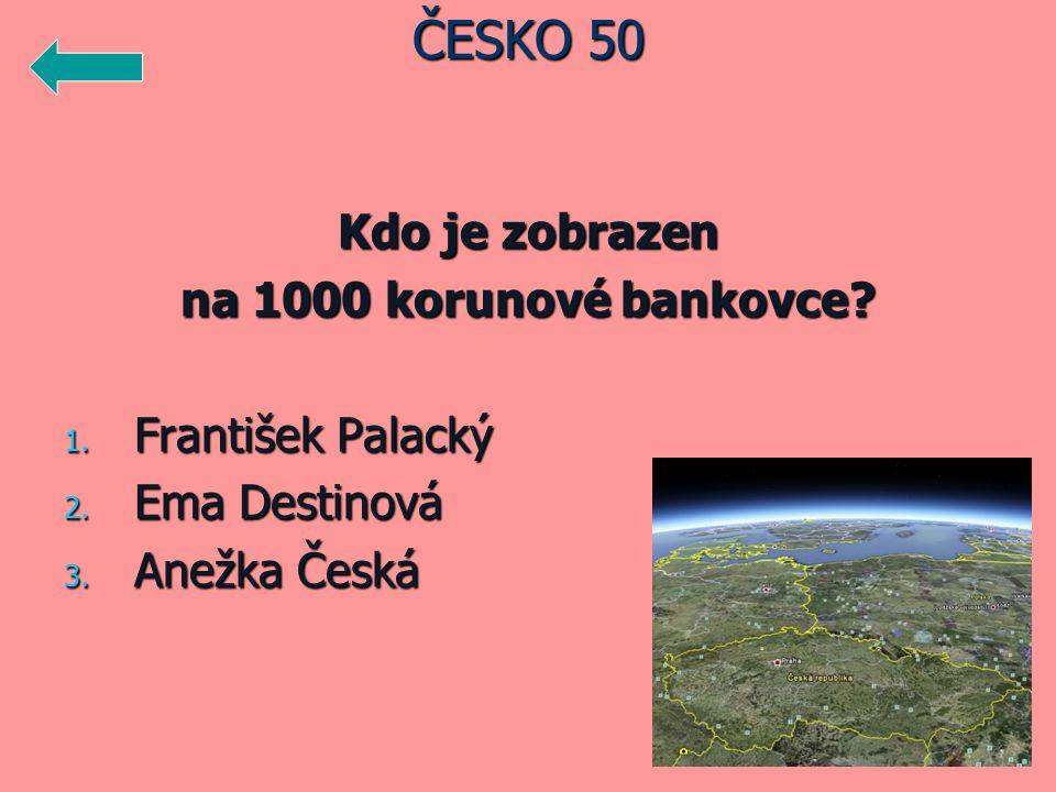 ČESKO 50 Kdo je zobrazen na 1000 korunové bankovce František Palacký