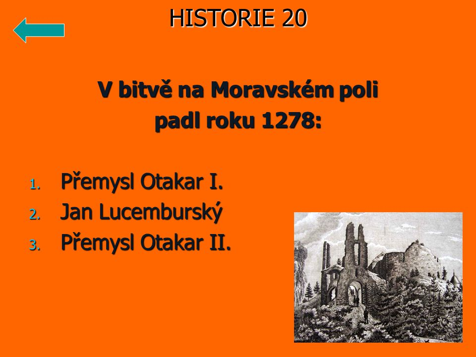 V bitvě na Moravském poli
