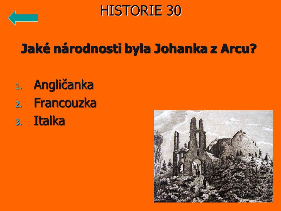 Jaké národnosti byla Johanka z Arcu