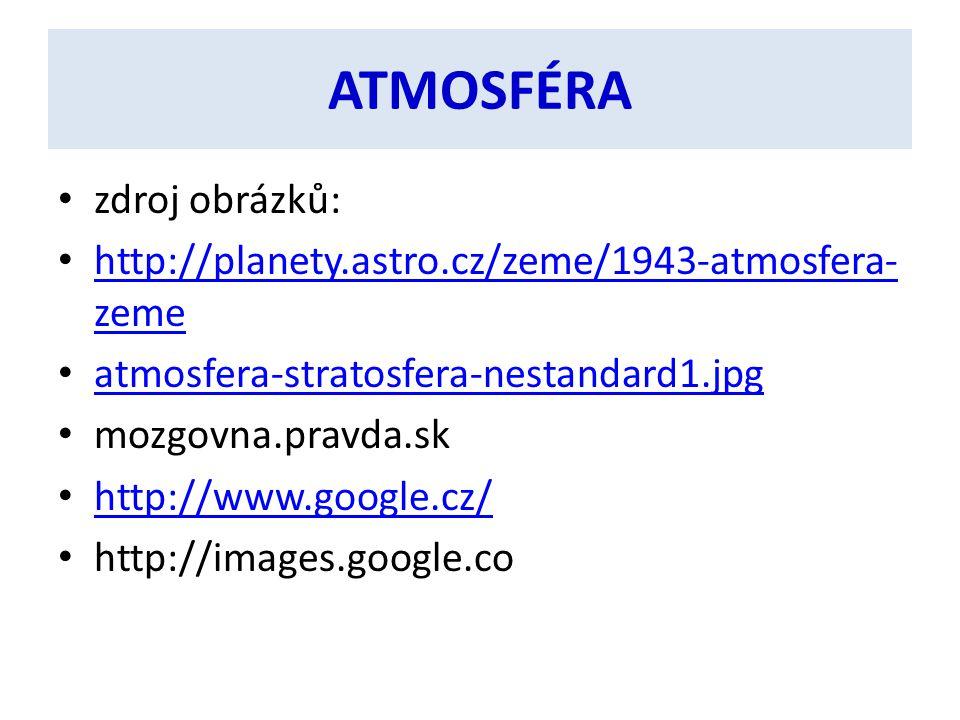 ATMOSFÉRA zdroj obrázků: