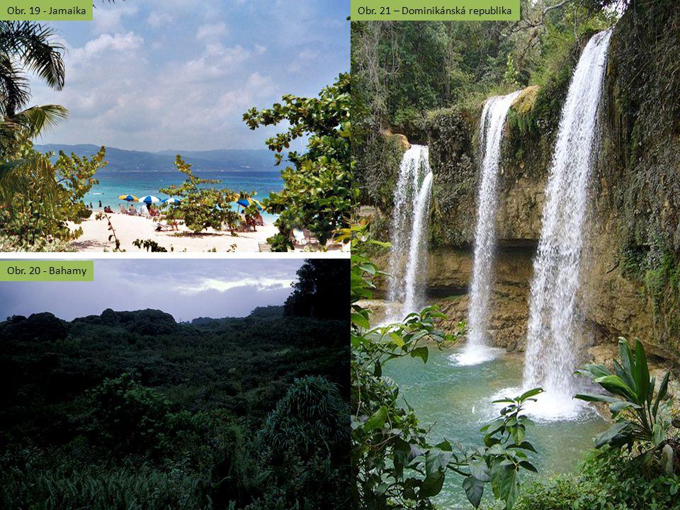 Obr. 19 - Jamaika Obr. 21 – Dominikánská republika Obr. 20 - Bahamy