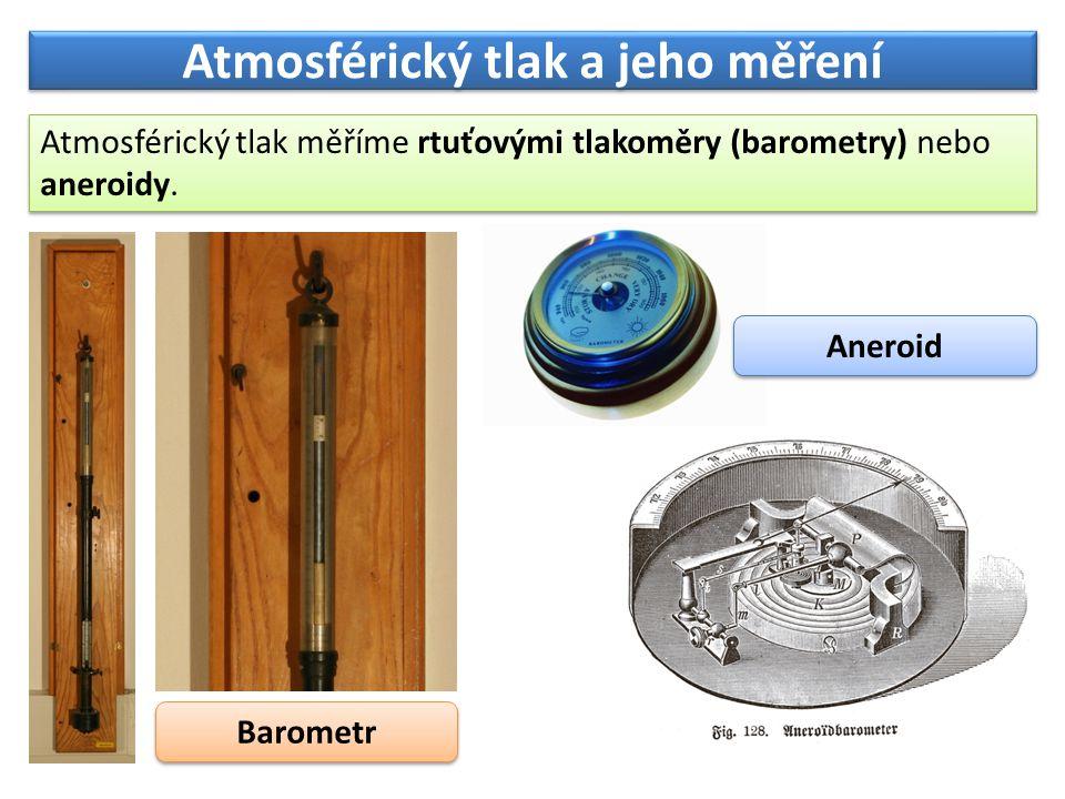 Atmosférický tlak a jeho měření