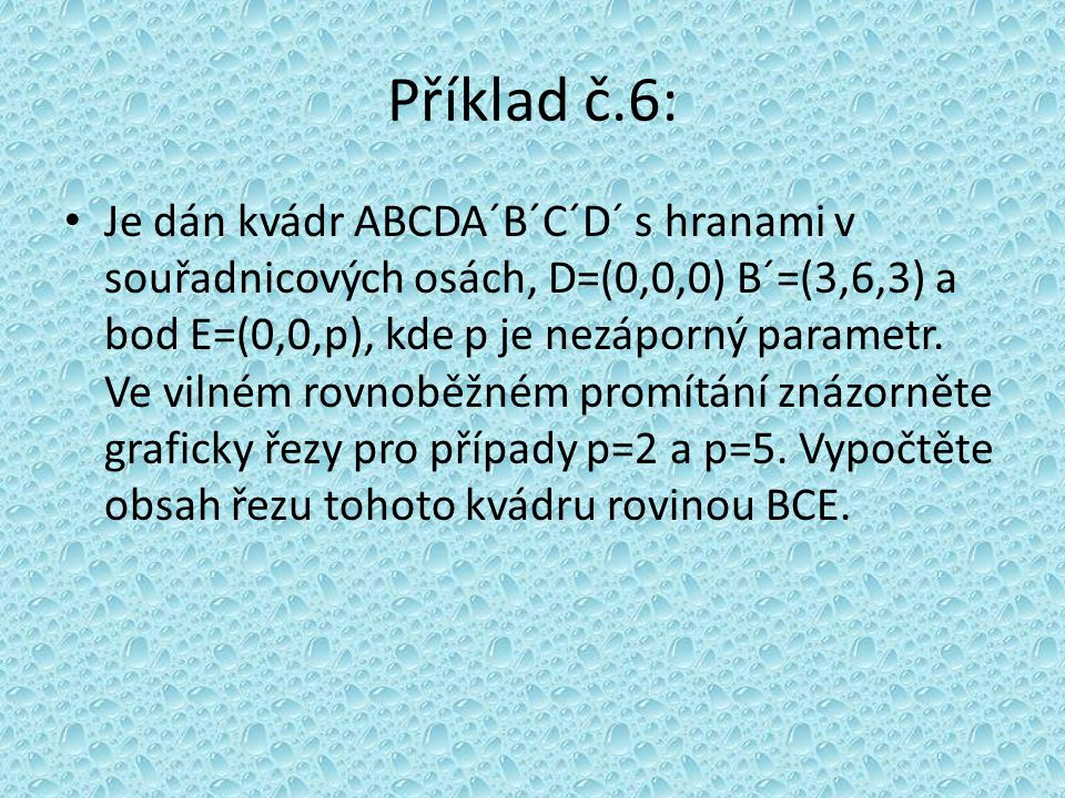 Příklad č.6: