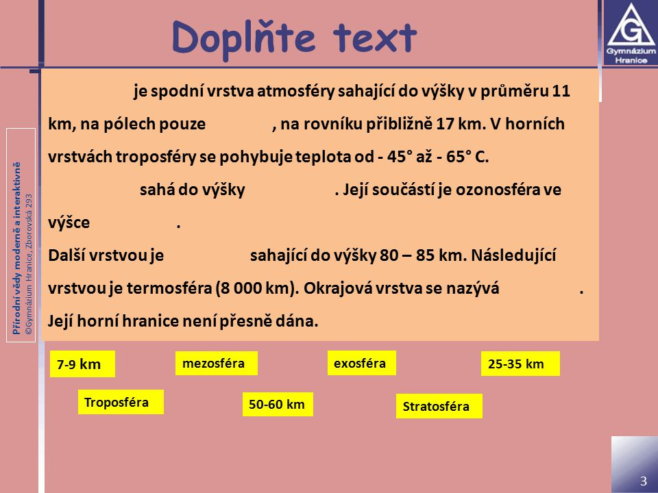 Doplňte text
