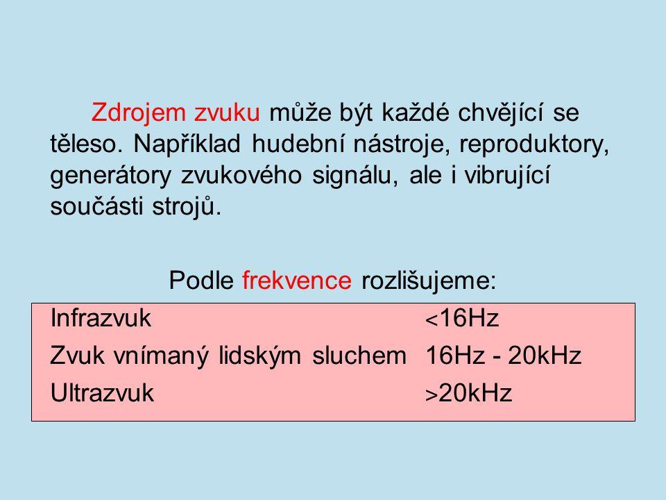 Podle frekvence rozlišujeme: