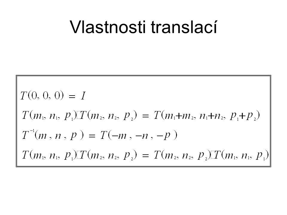 Vlastnosti translací