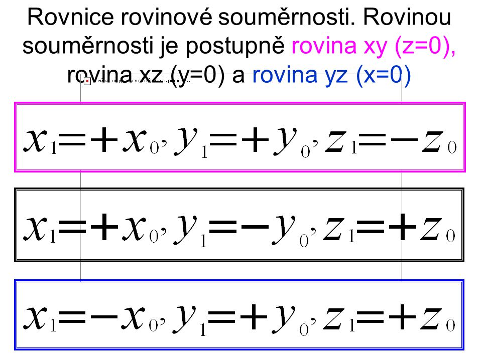 Rovnice rovinové souměrnosti