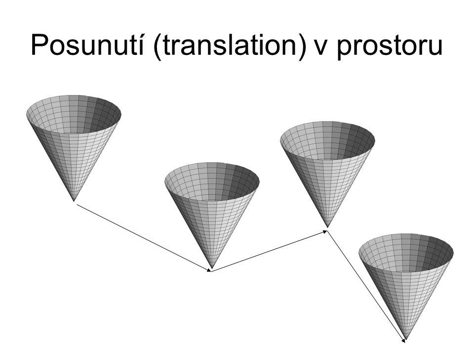 Posunutí (translation) v prostoru