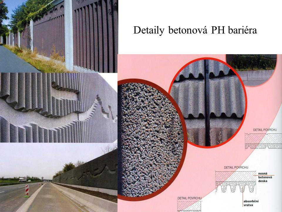 Detaily betonová PH bariéra
