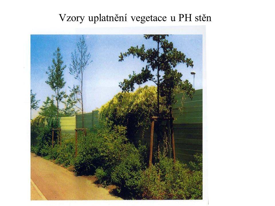 Vzory uplatnění vegetace u PH stěn